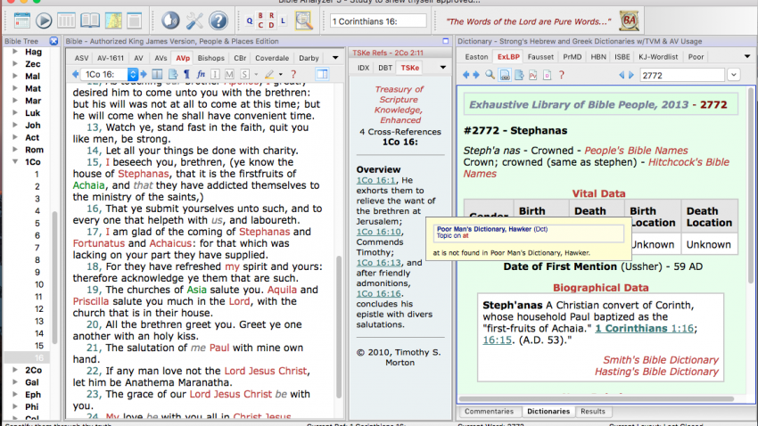 Screenshot of Bible Analyzer